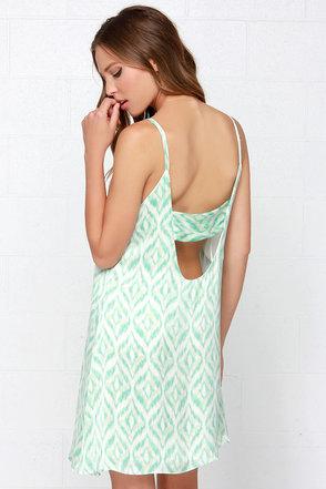 Optical Phenomenon Mint Print Dress at Lulus.com!