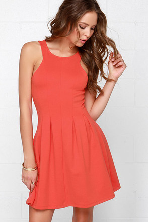 Others Follow Petula Coral Red Dress at Lulus.com!