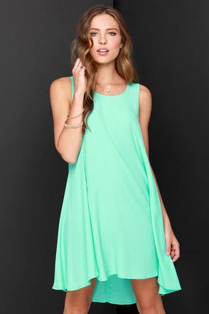 Chic Easy Mint Green Swing Dress at Lulus.com!