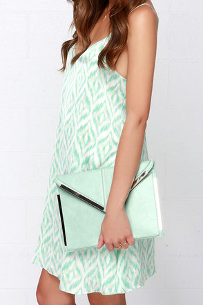 Secret Admirer Mint Green Clutch at Lulus.com!