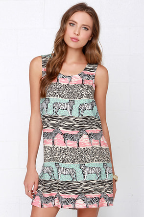 Mink Pink Safari Adventure Jungle Print Shift Dress at Lulus.com!