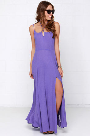 Somedays Lovin' The Duke Purple Maxi Dress at Lulus.com!