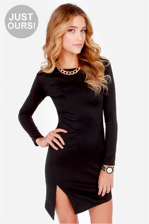 LULUS Exclusive All the Angles Black Dress