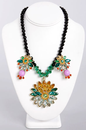Light Fest Floral Rhinestone Necklace