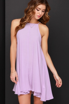 Mink Pink Apron Lavender Swing Dress at Lulus.com!