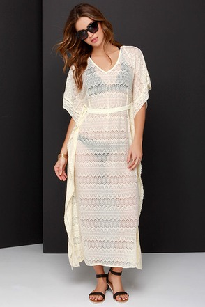 Walking on a Dream Cream Lace Cover-Up at Lulus.com!