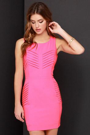 Heatin' Up Hot Pink Dress at Lulus.com!