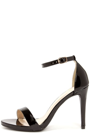 Dress Accordingly Dark Beige Patent Ankle Strap Heels at Lulus.com!