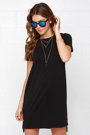 Chesapeake Basic Black Shirt Dress at Lulus.com!