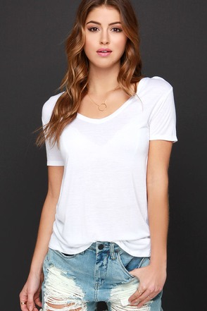 Let's V Friends Ivory Tee at Lulus.com!