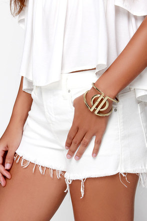 We Meet Again Gold Bracelet at Lulus.com!