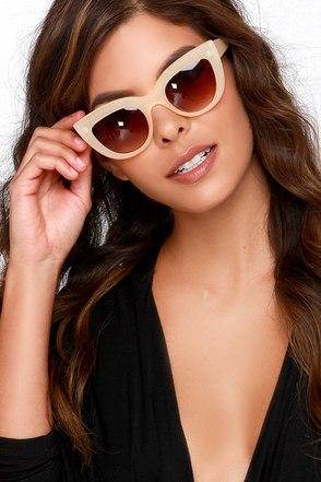 Cat-Eye Contact Pale Blush Sunglasses at Lulus.com!