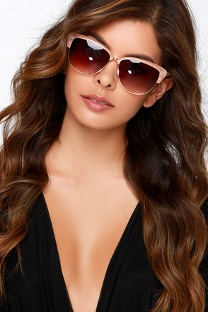Shades of Cool Peach Sunglasses at Lulus.com!