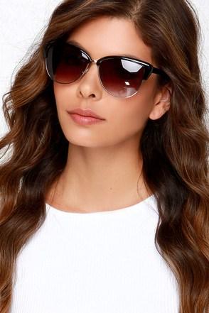 Shades of Cool Black Sunglasses at Lulus.com!