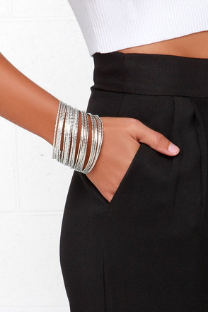 Bundle of Joy Silver Bangle Set at Lulus.com!