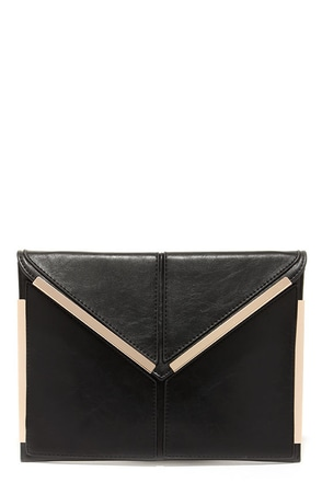 Secret Admirer Black Clutch at Lulus.com!