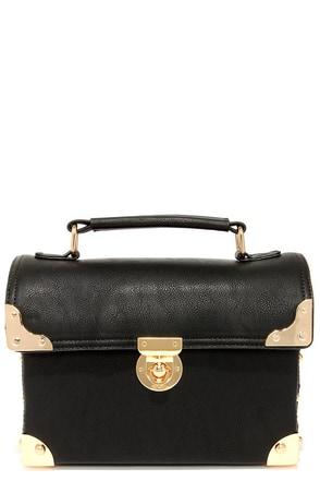 Treasure Trove Black Handbag at Lulus.com!