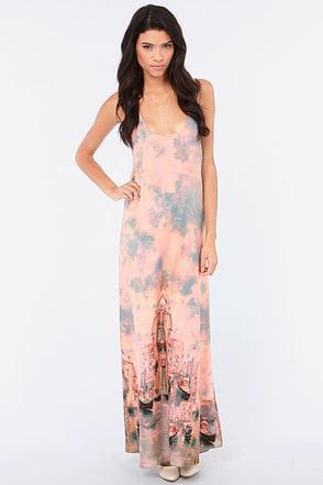 Venice to Meet You Print Maxi Dress