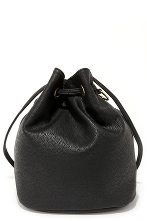 Call it a Draw-string Black Convertible Backpack at Lulus.com!