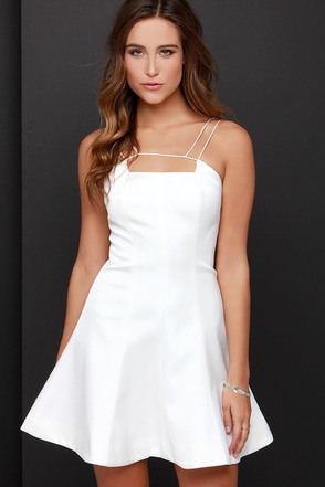 Keepsake Mirror Image Ivory Dress at Lulus.com!