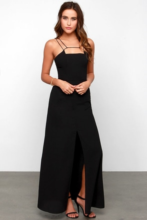 Keepsake Mirror Image Black Maxi Dress at Lulus.com!