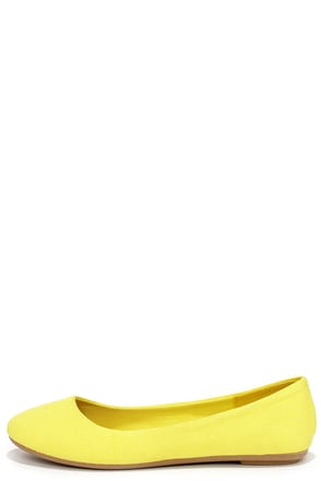 Fox and the Round Yellow Ballet Flats at Lulus.com!