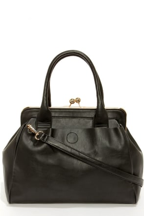 It's a Snap Black Handbag