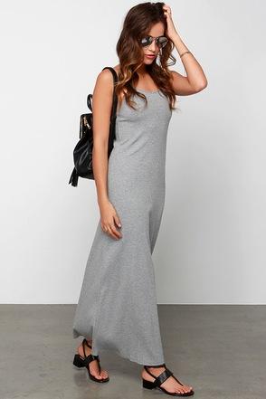 Glamorous Where Knits At Grey Maxi Dress at Lulus.com!