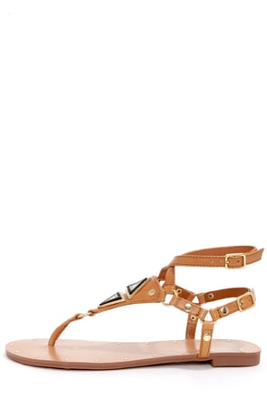 Dolce Vita Darva Honey Metal Plated Thong Sandals