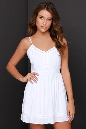 Jack by BB Dakota Malakai Ivory Dress at Lulus.com!