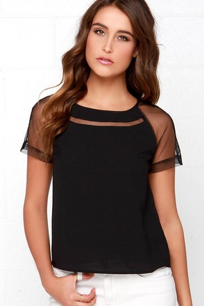 Mesh is More Black Top at Lulus.com!