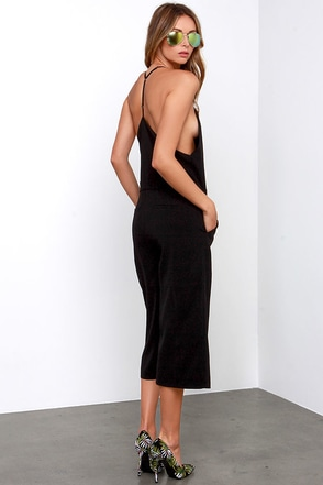 Suited Up and Over Black Midi Jumpsuit at Lulus.com!