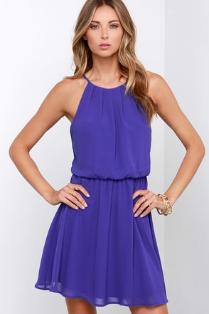 True Colors Indigo Blue Dress at Lulus.com!