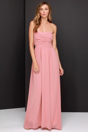 Royal Engagement Strapless Mauve Maxi Dress at Lulus.com!