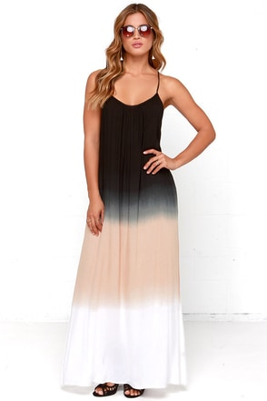 Three-Tone Three-Tune Black Maxi Dress at Lulus.com!