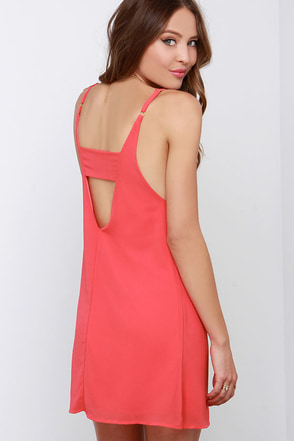 Cutout All Night Coral Pink Dress at Lulus.com!