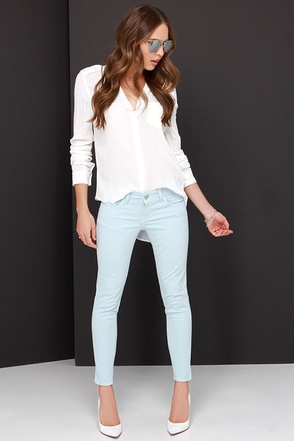 Billie Jean Light Blue Skinny Jeans at Lulus.com!