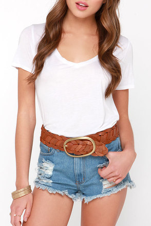 Twine-y Dancer Wide Brown Leather Belt at Lulus.com!