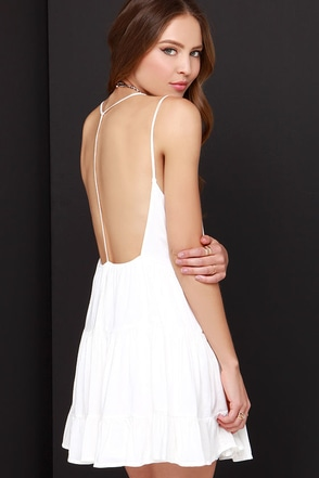 Ruf-filled with Joy Ivory Dress at Lulus.com!