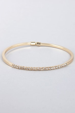 Teacher's Petite Gold Rhinestone Bracelet
