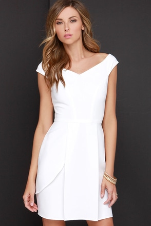 Lovely Day Ivory Off-the-Shoulder Dress at Lulus.com!