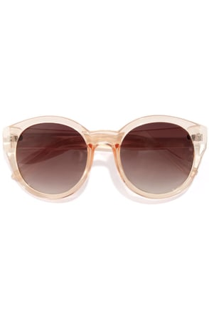 Marlo Peach Sunglasses at Lulus.com!