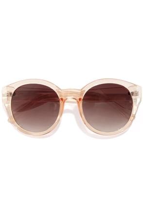 Marlo Peach Sunglasses at Lulus.com!