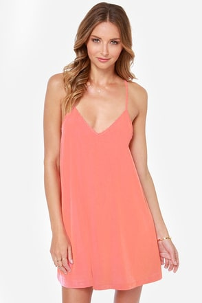 Amour the Merrier Peach Lace Dress