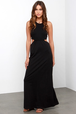 Billabong Hold On Me Black Maxi Dress at Lulus.com!