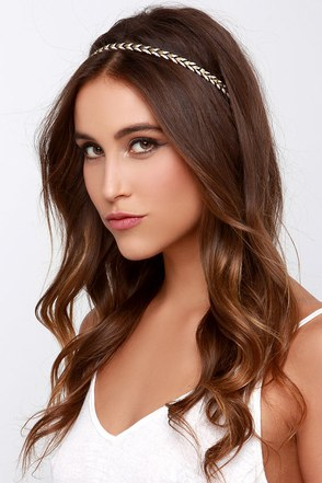 Braid with Love Beige and Black Headband at Lulus.com!