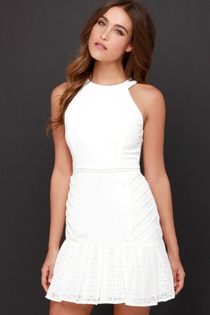 Girls' Night Out Ivory Lace Dress at Lulus.com!
