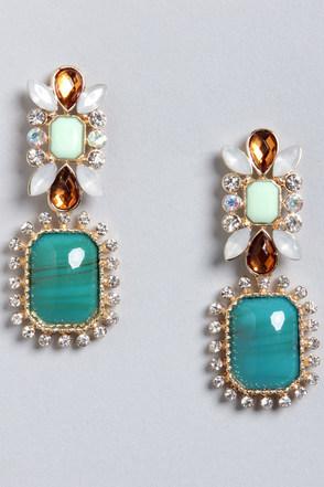 Always Appealing Turquoise Dangle Earrings