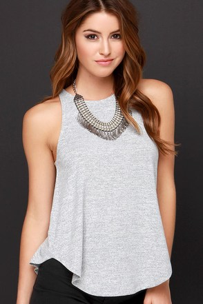 Be Your Girl Heather Grey Tank Top at Lulus.com!