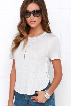 Off We Go Black High-Low Tee at Lulus.com!